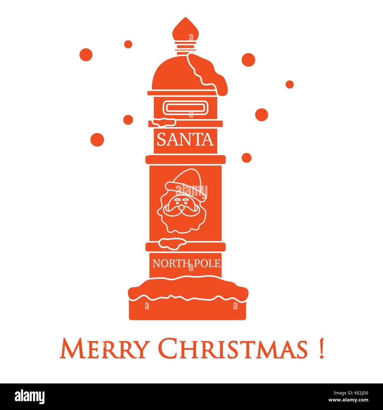 Santa\'s Mailbox und Schnee. winter Thema. Schreiben für santa claus ...