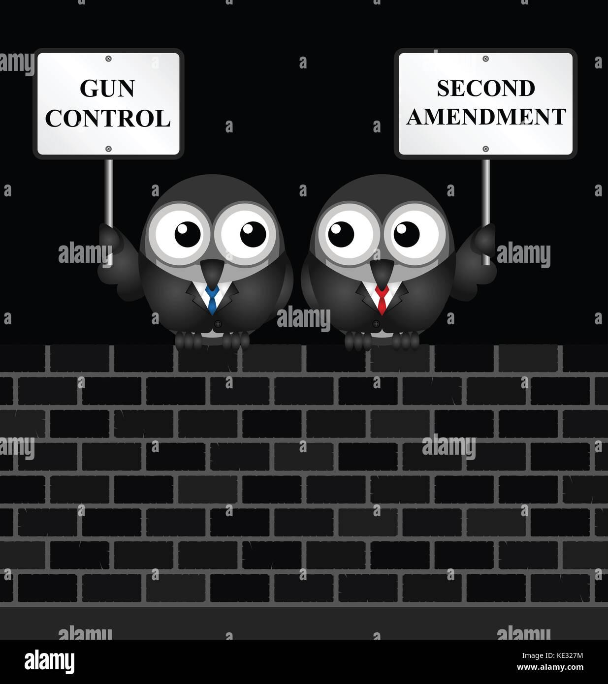 Gun Control Verse in den usa zweite Änderung und das Recht, Waffen zu halten und tragen Stockbild