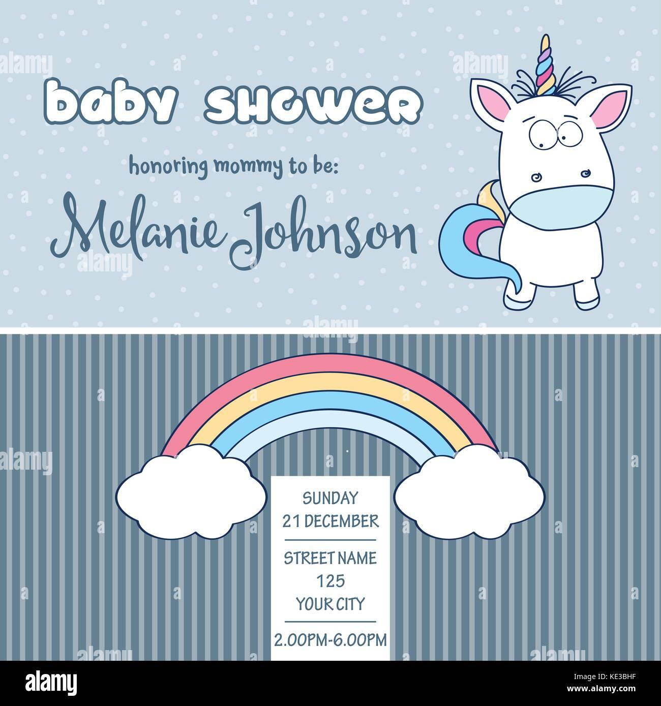 Customizable Baby Shower Card Stockfotos & Customizable Baby Shower ...
