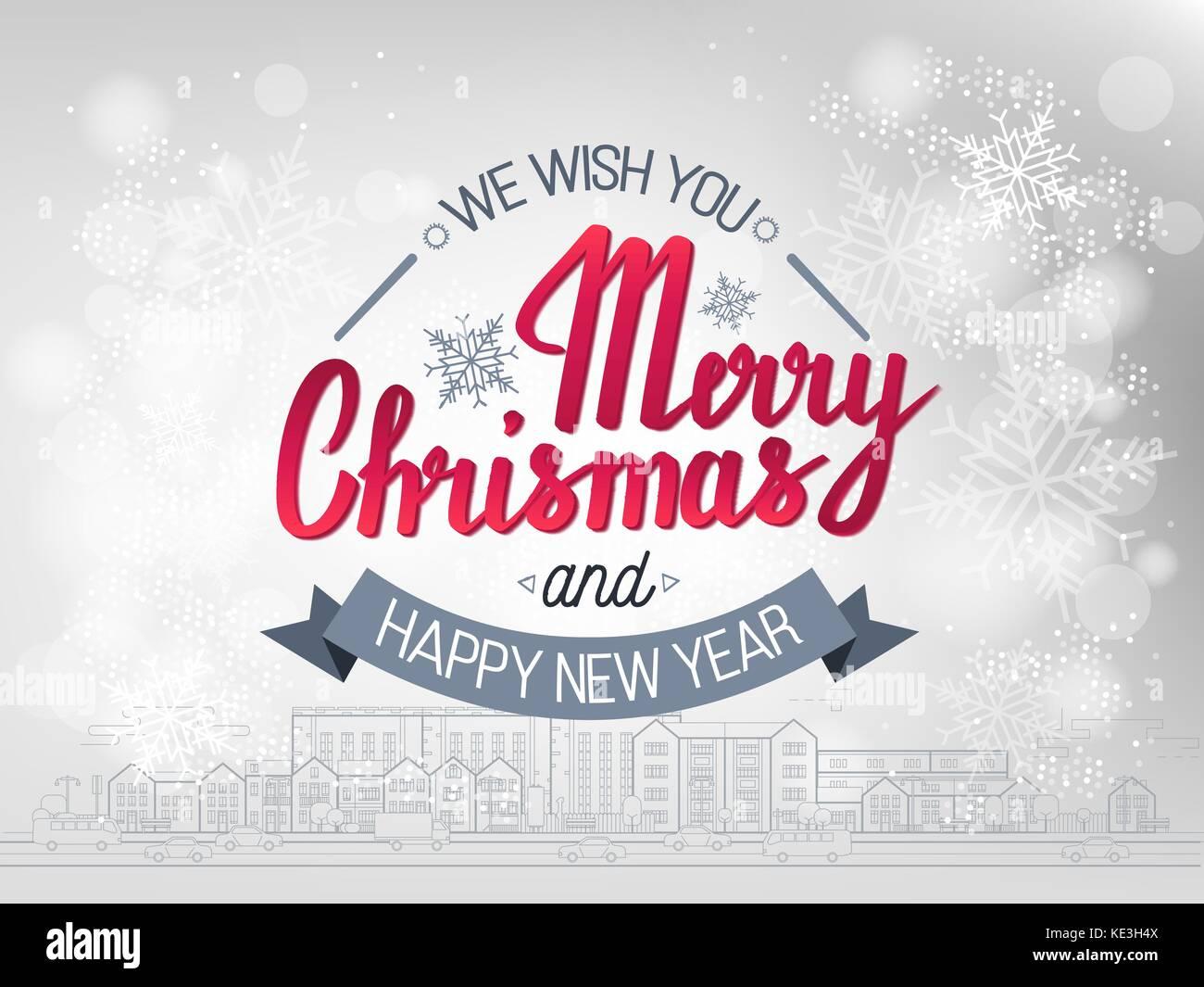 Wir Wünschen Ihnen Frohe Weihnachten Und Ein Glückliches Neues Jahr.Die Handschriftlichen Phrase Wir Wünschen Ihnen Frohe Weihnachten