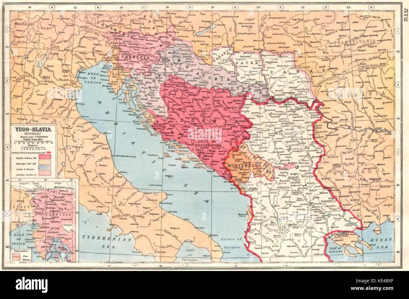 Jugoslawien Karte.Jugoslawien Karte 1920 Stockfoto Bild 163595671 Alamy