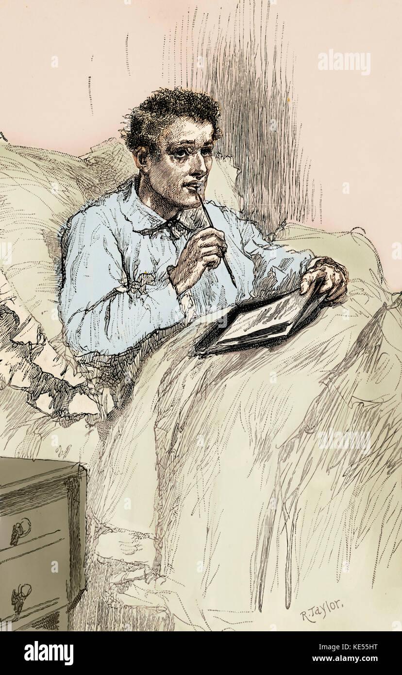 Blinde Liebe, von Wilkie Collins. geschrieben 1889 - unvollendet. von Walter besant abgeschlossen. Bildunterschrift Stockbild
