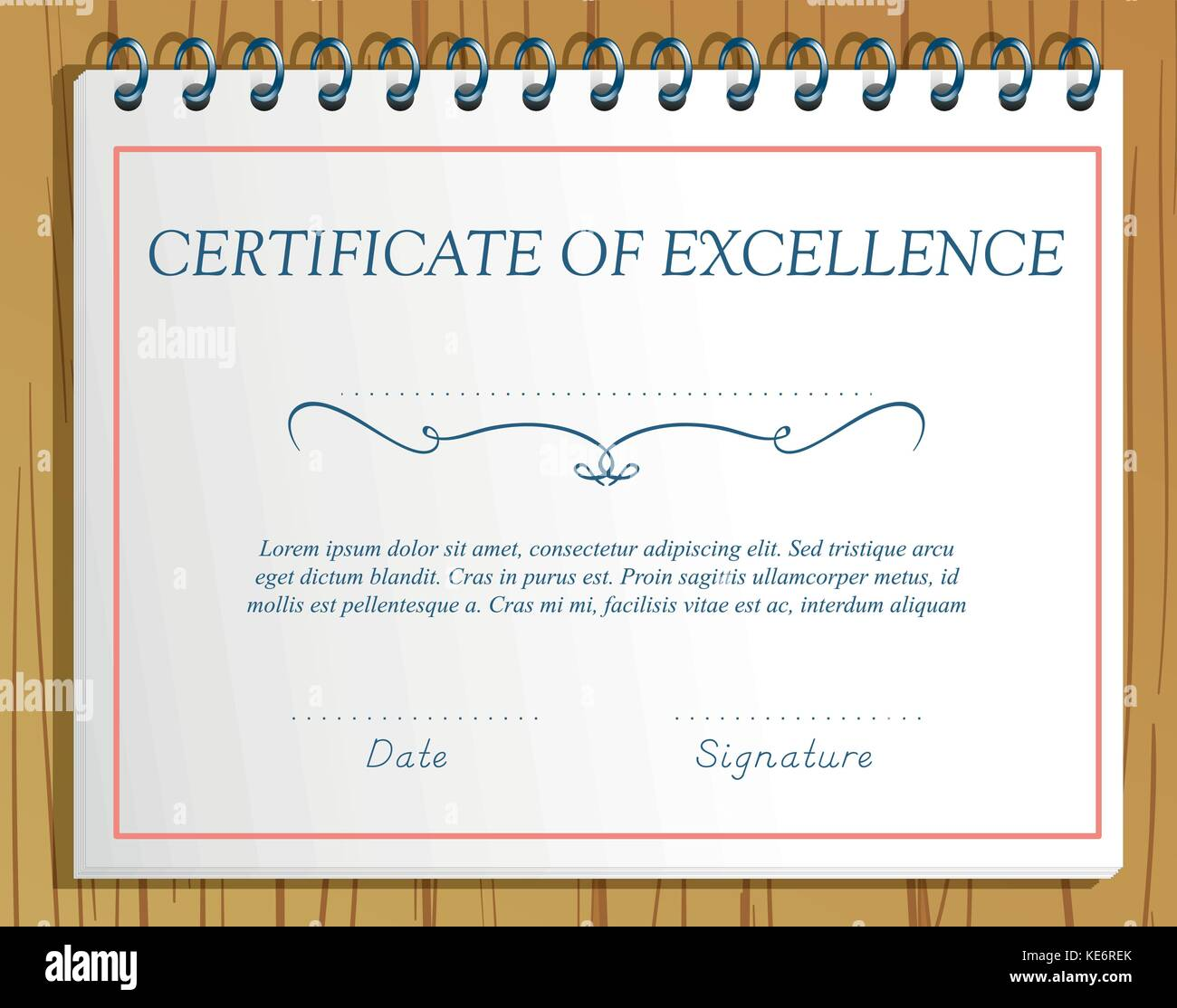 Certificate Of Excellence Stockfotos & Certificate Of Excellence ...