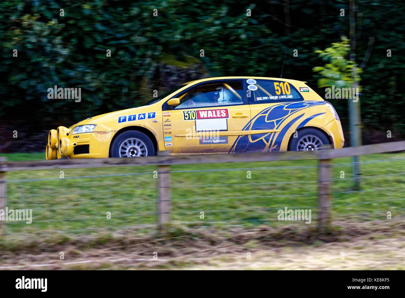 Ein Fiat Stilo abarth Gruppe a Rally Car auf der Wilton classic & super Auto Tag, Wiltshire, 2014 Stockbild