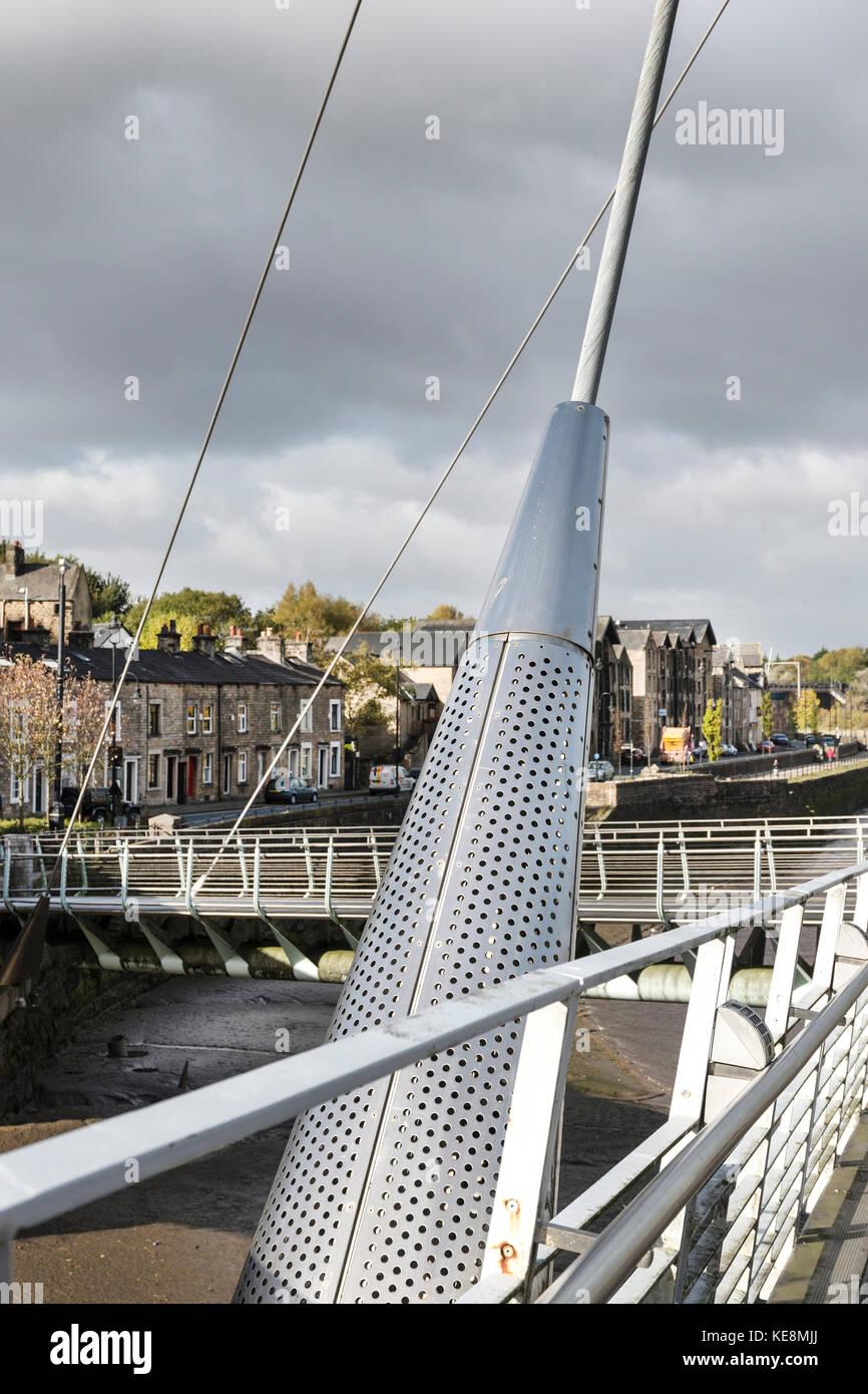 Lune Millennium Bridge, Lancaster Stockfoto