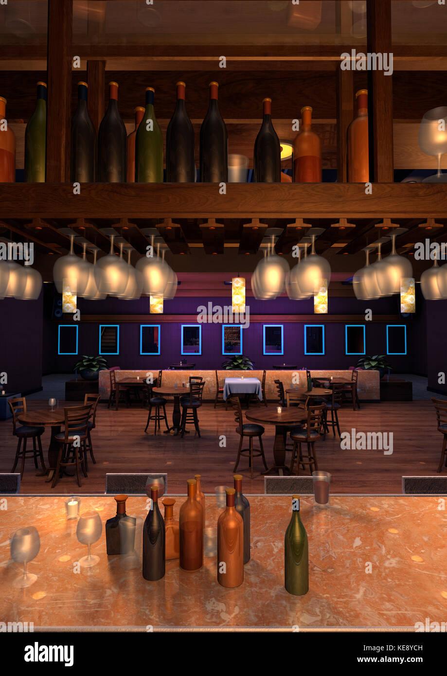 Interior Nightclub Lounge Bar Stockfotos & Interior Nightclub Lounge ...
