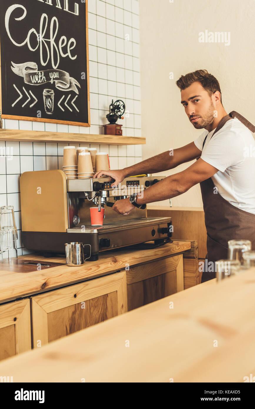 Barista Kaffee Stockbild