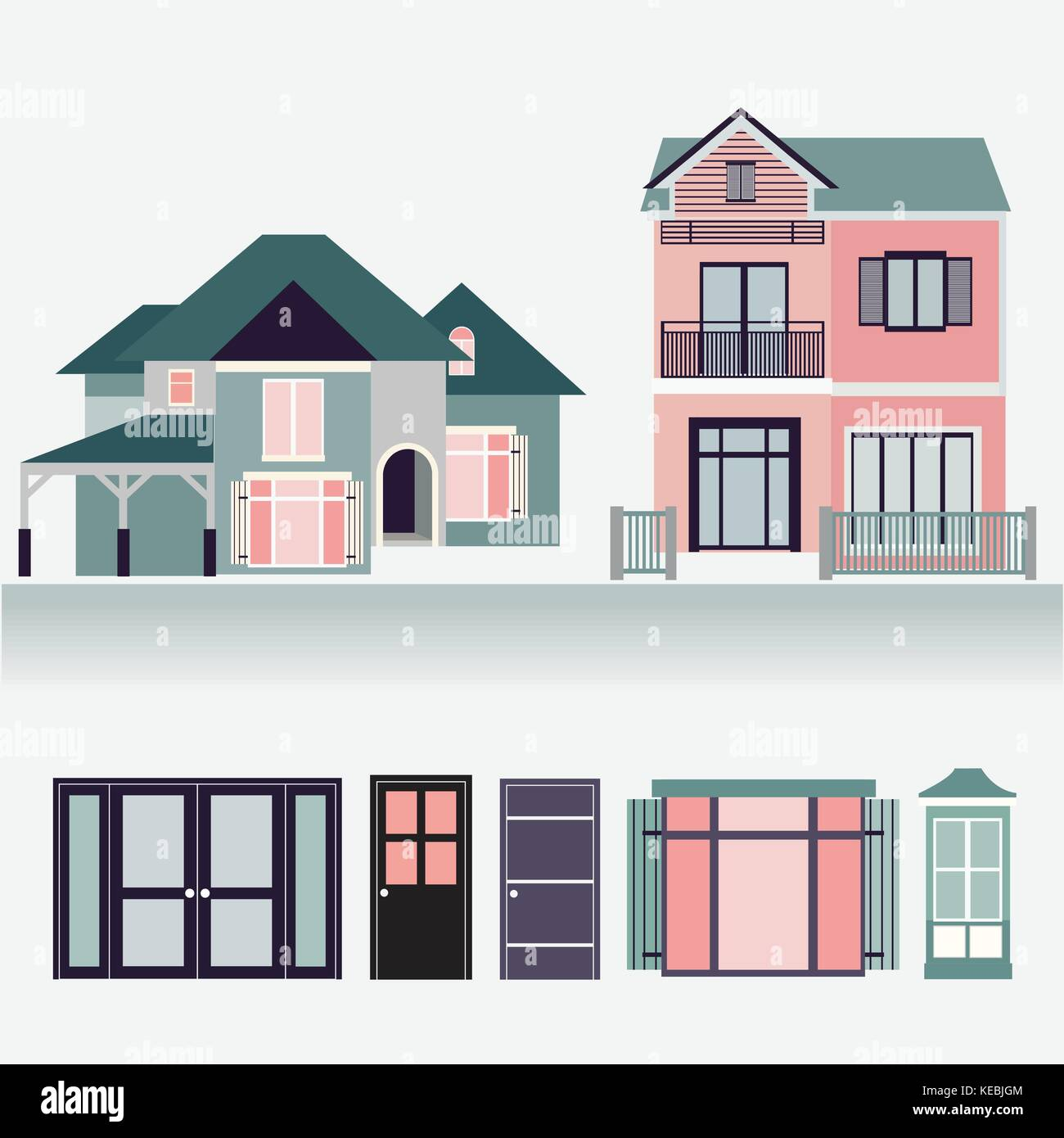 Neighborhood Houses Vector Icon Design Stockfotos & Neighborhood ...