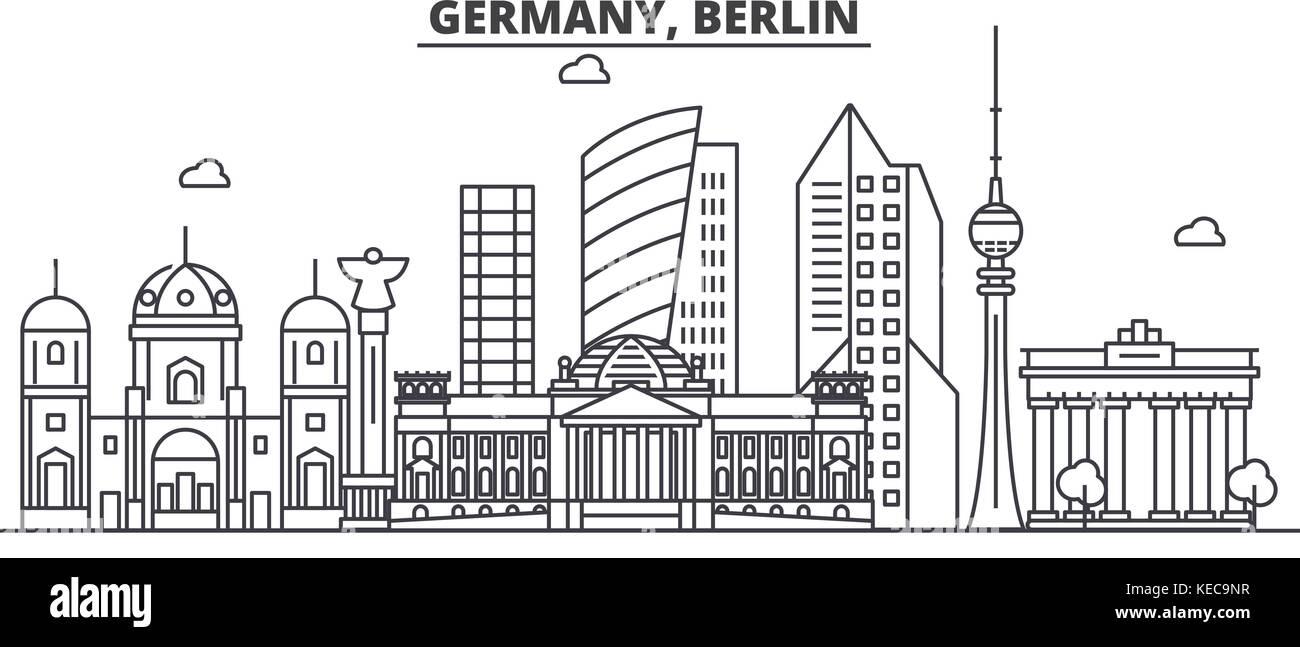Deutschland Berlin Architektur Linie Skyline Abbildung Linear