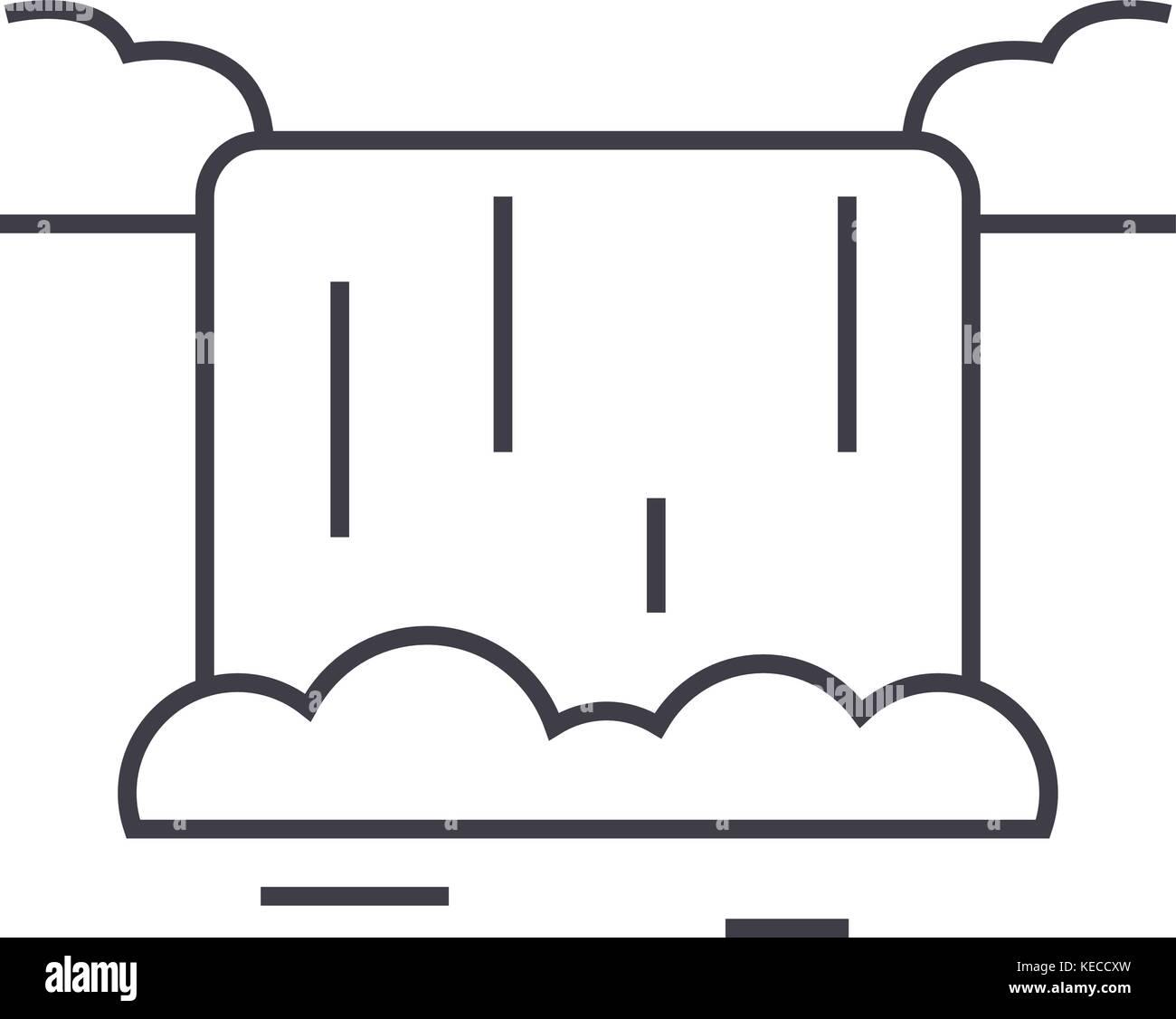 Wassertropfen Tippen Waschmaschine Vektor Symbol Leitung Zeichen