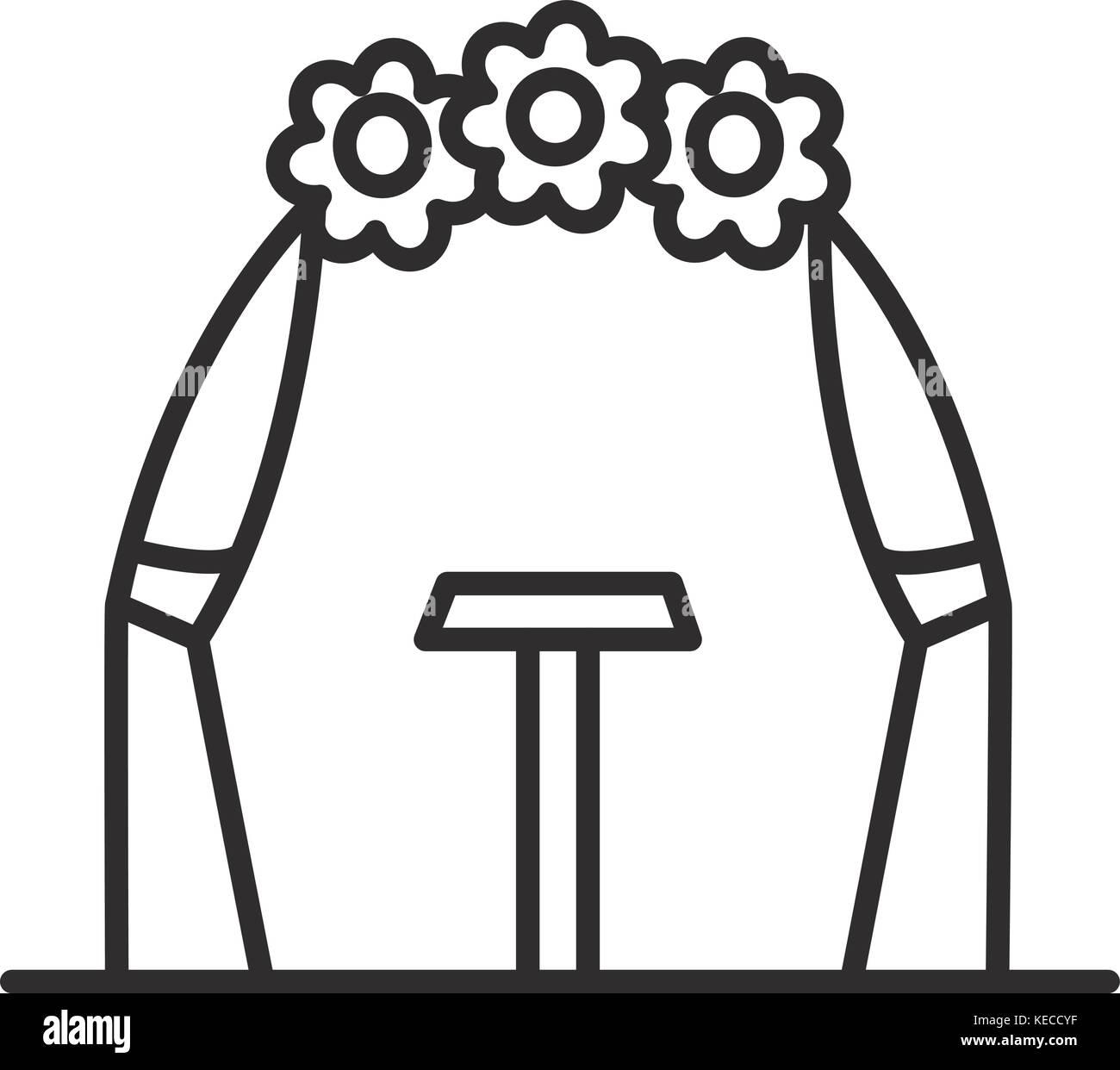 Hochzeit Arch Vektor Symbol Leitung Zeichen Abbildung Auf