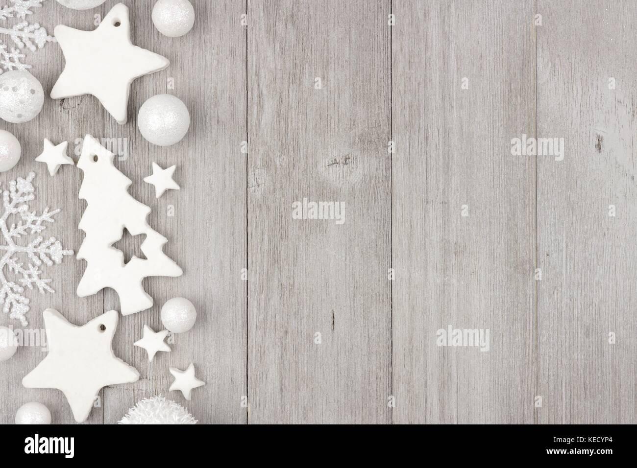 Relativ Weihnachten Seite Grenze mit shabby chic Handarbeit Ton Ornamente TQ44