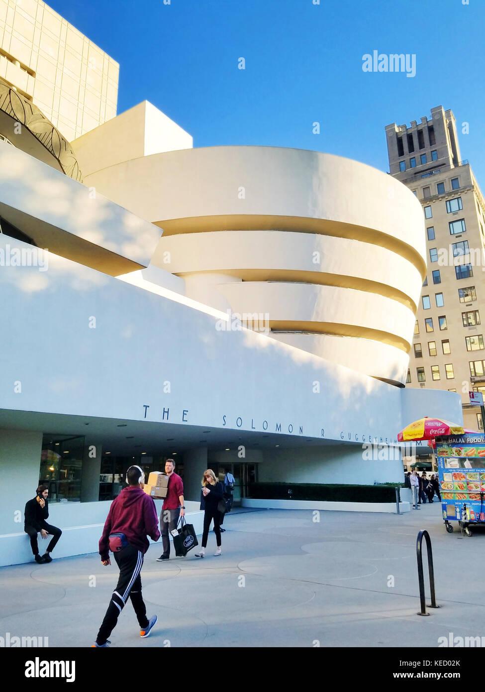 Der Solomon R. Guggenheim Museum, New York City Stockbild