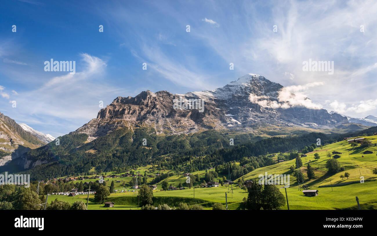 Eiger Nordwand, Grindelwald, Bern, Schweiz Stockbild