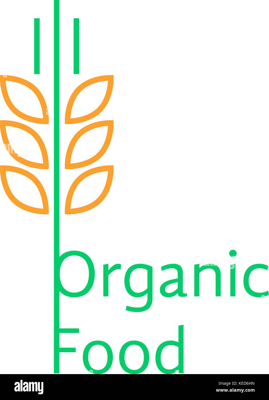 Wheat Logo Template Vector Icon Stockfotos & Wheat Logo Template ...