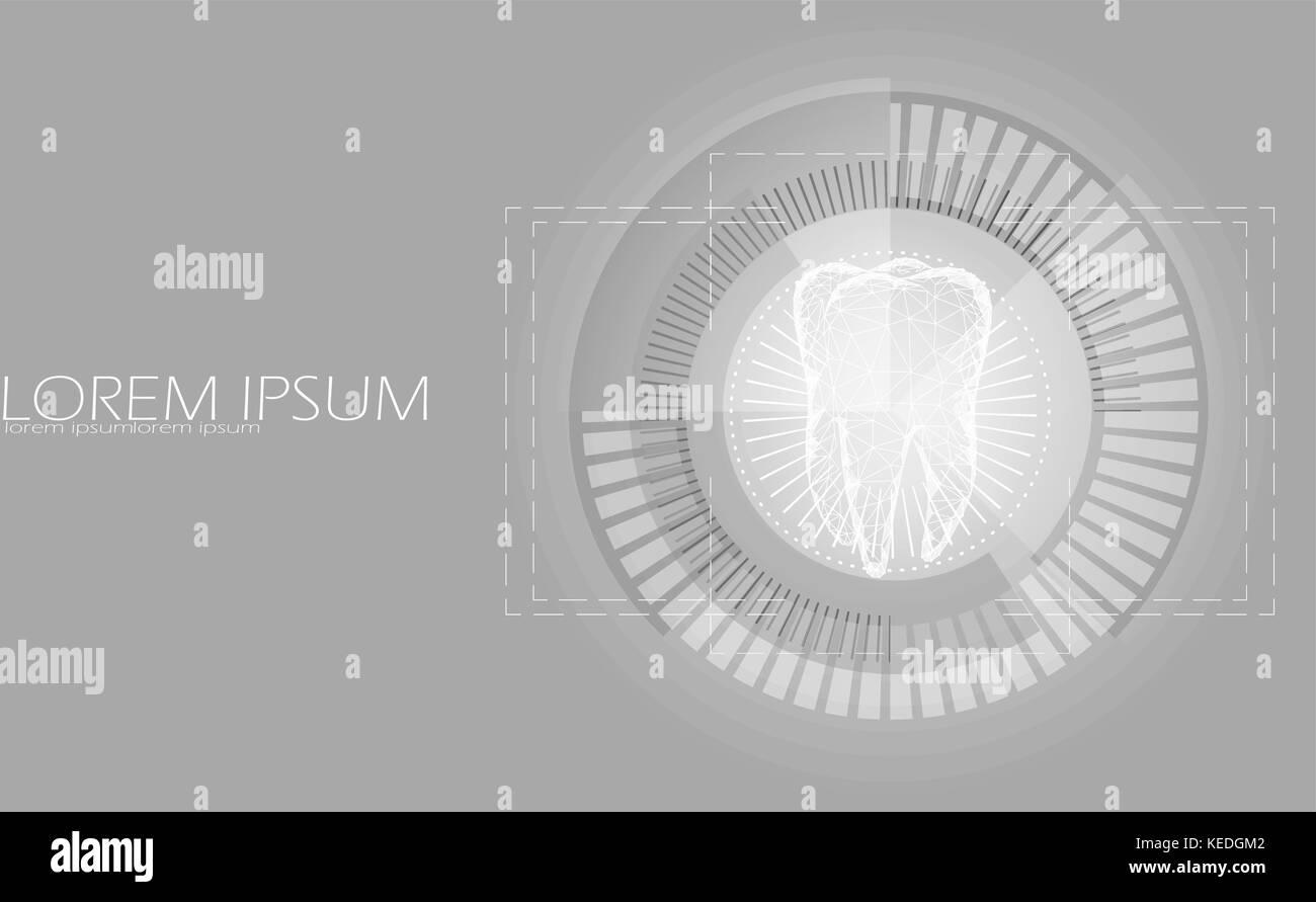 Low Poly Zahn Vier Wurzel In Hud Ziel Anzuzeigen. Thearment Medizin  Target Konzept Polygonalen Grau Weiß Farbe Abstrakt Hintergrund Verbunden.  Dot ...