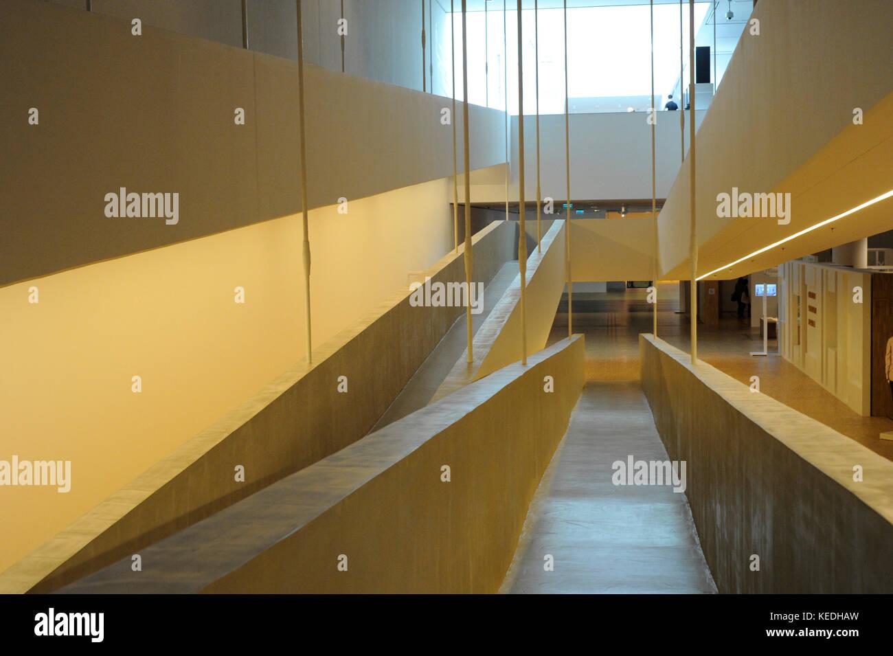 Schlesisches Museum. Interieur. Katowice Polen Stockfoto, Bild ...