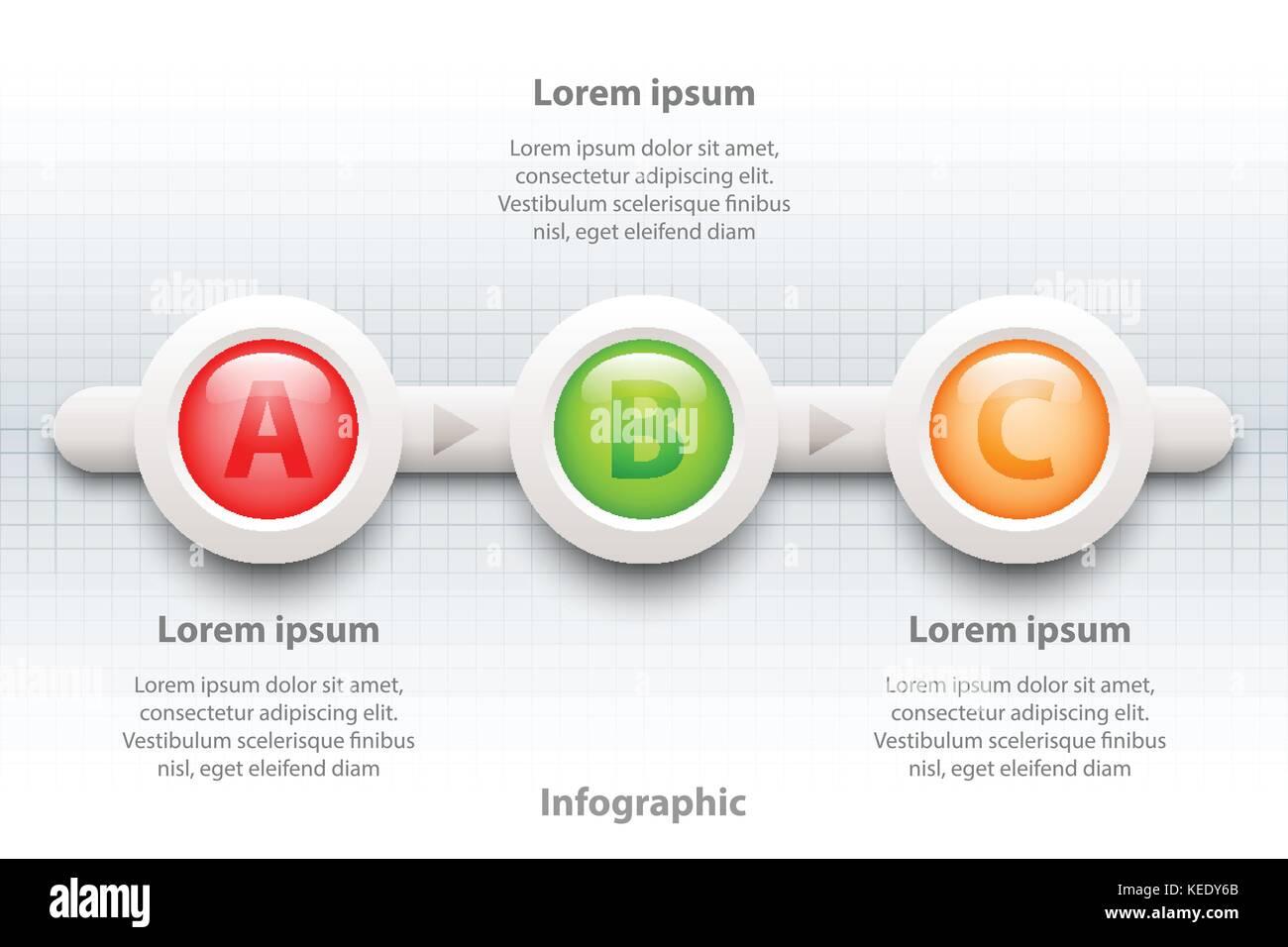 Bunte drei Themen 3d Papier Kreis in der Reihenfolge Zeitrahmen für ...