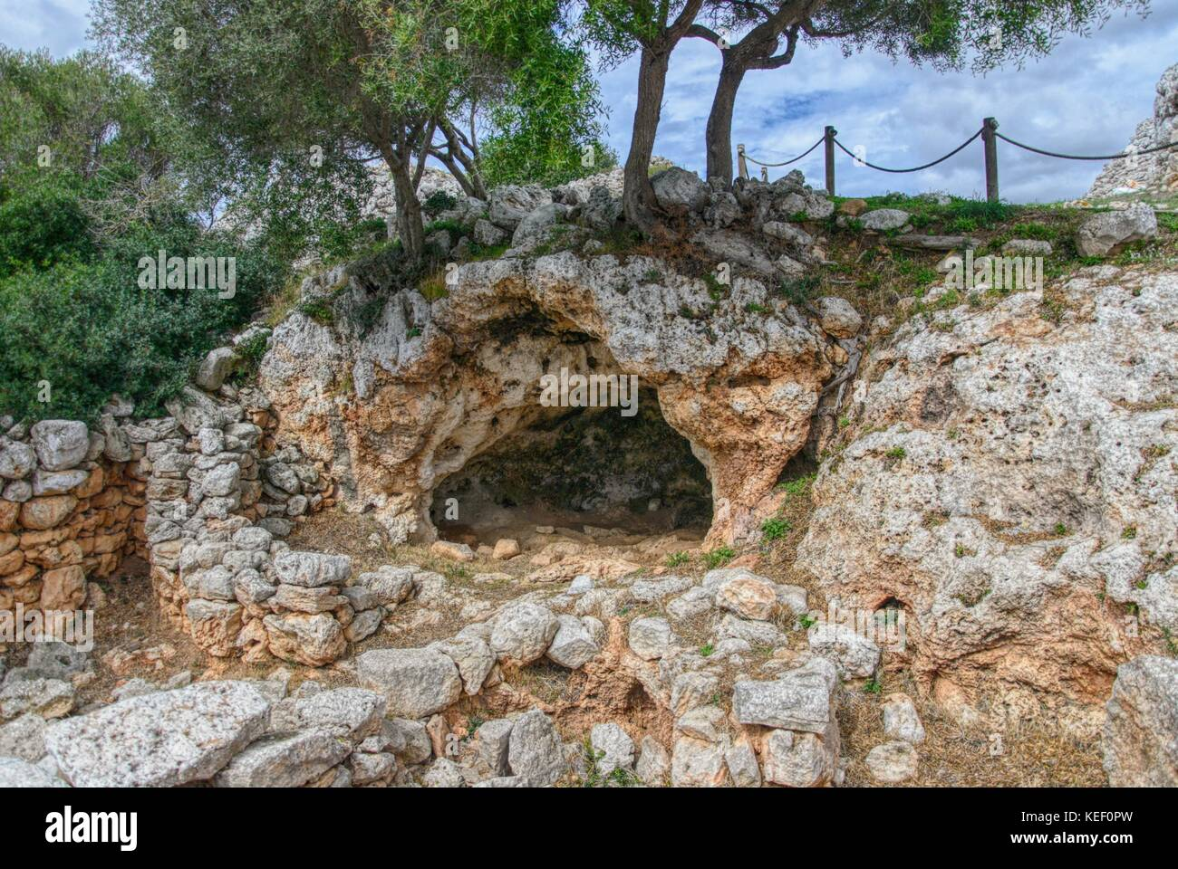 Torre d'en Galmés, Talayotischen Ort auf der Insel Menorca, Spanien Stockfoto