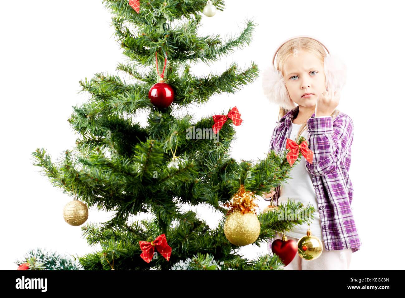 Weihnachtsbaum Schmücken Stockfoto Bild 163859381 Alamy