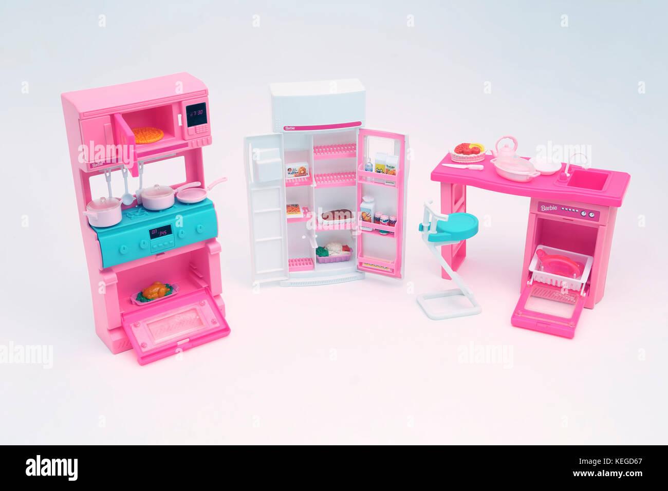 Der Jahrgang 1994 Barbie o Viel zu tun\' Küche set Spielzeug - Herd ...