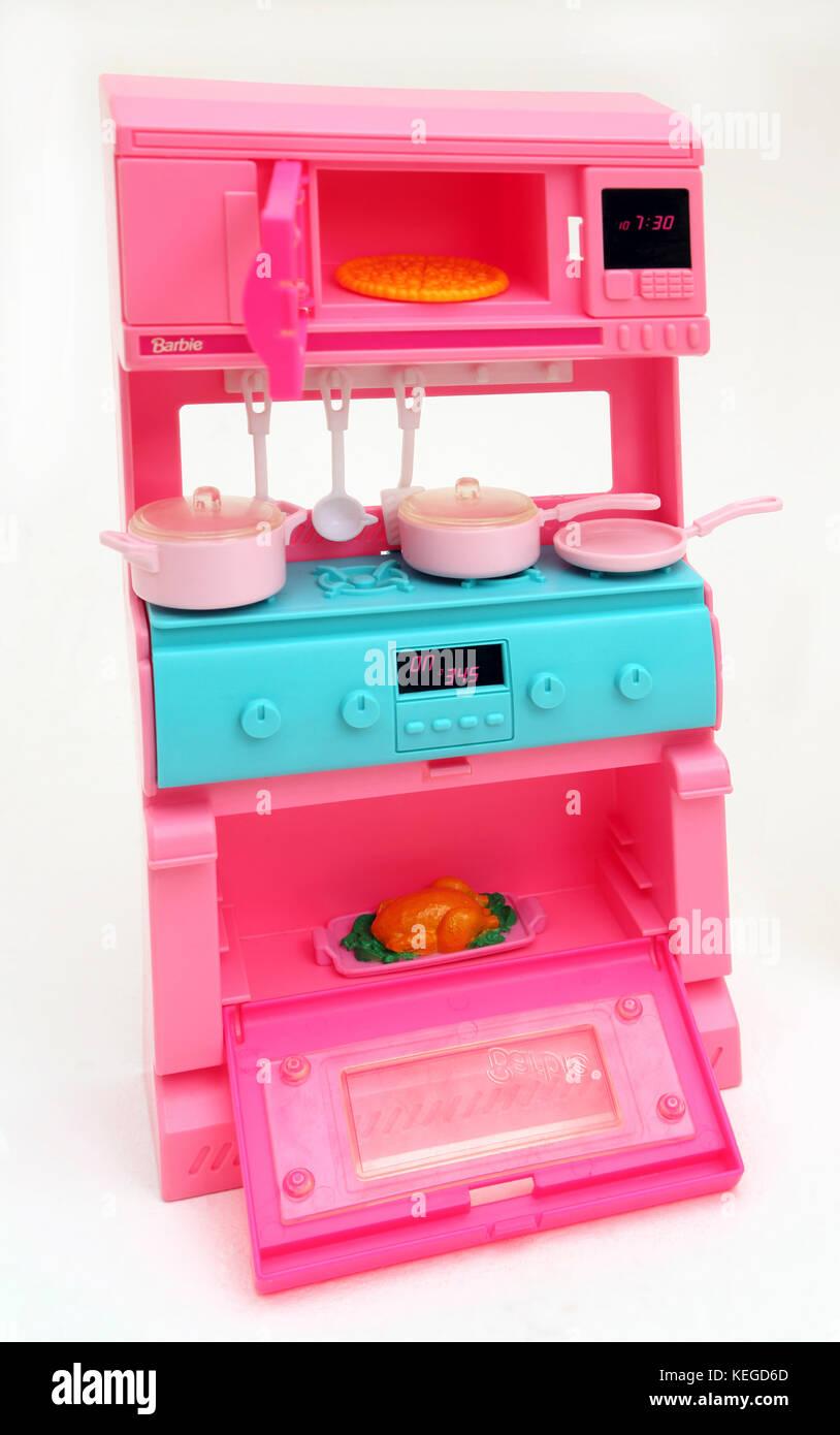 Jahrgang 1994 der Barbie o Viel zu Tun\' Küche Herd und Mikrowelle ...