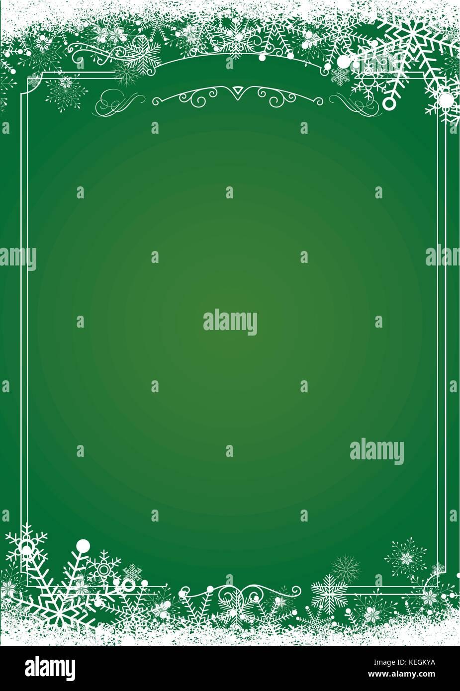 Format A3 Menü vertikal - Weihnachten Farbverlauf grün mit retro ...