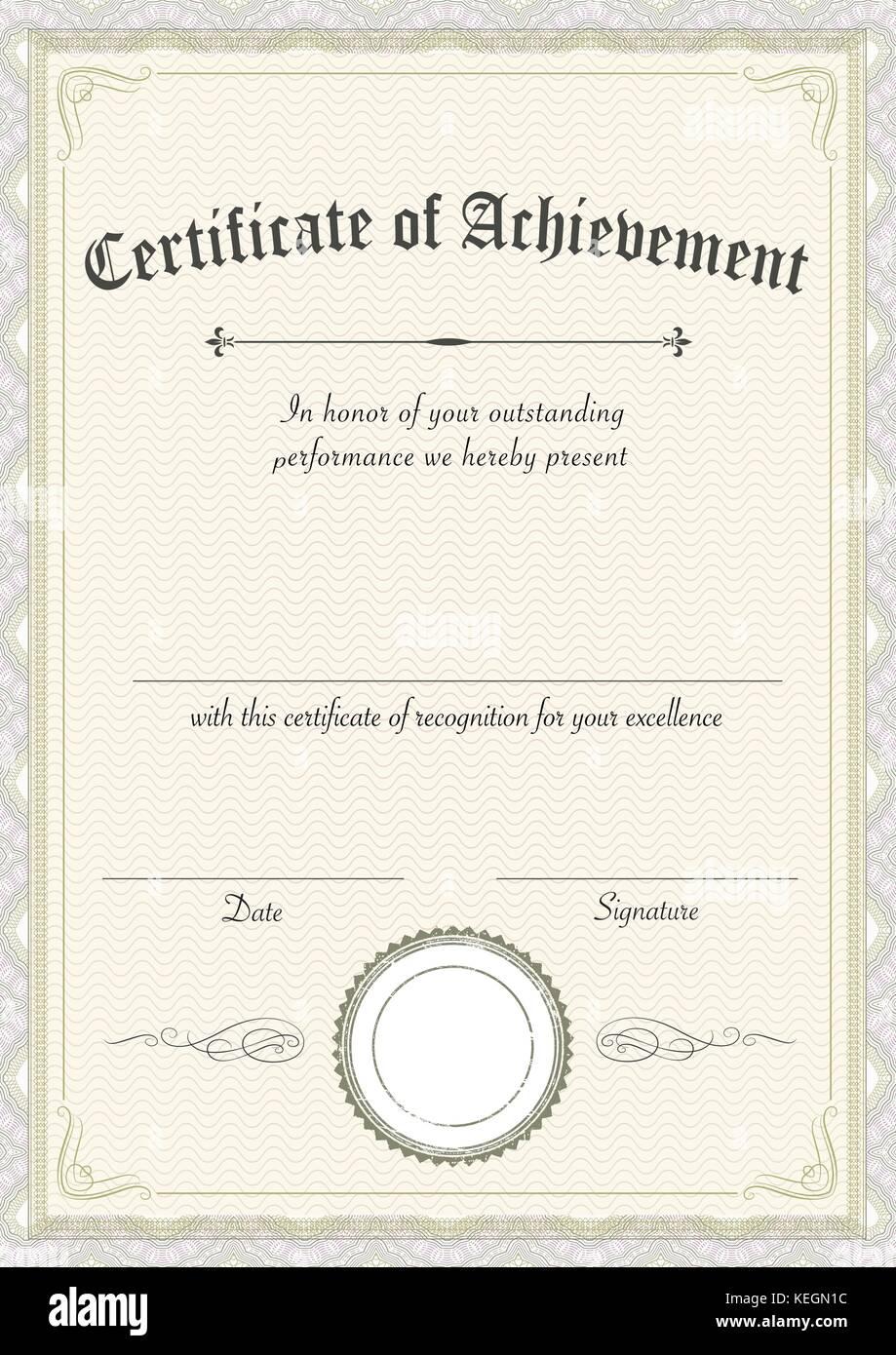 Certificate Border Certificate Template Vector Stockfotos ...