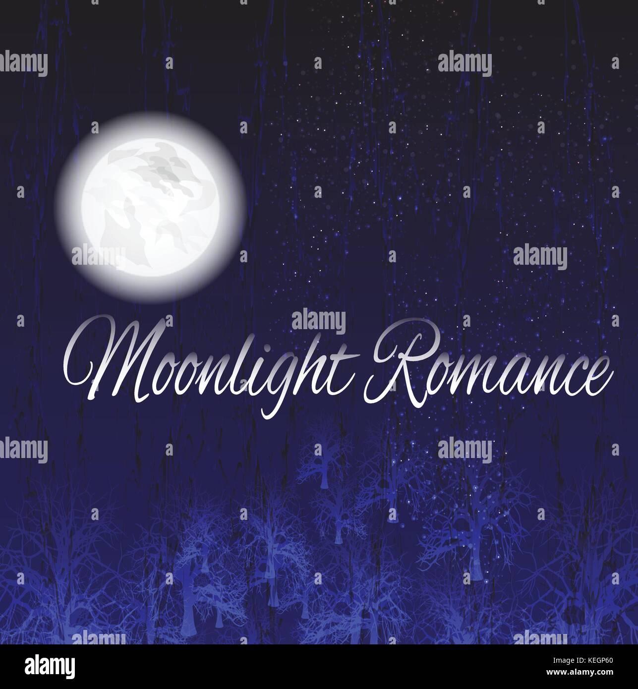 Volle moonlight Vektor für Hintergrund, Hintergrund, Poster, Drucken, Tapeten, Illustration oder andere Arten Stockbild