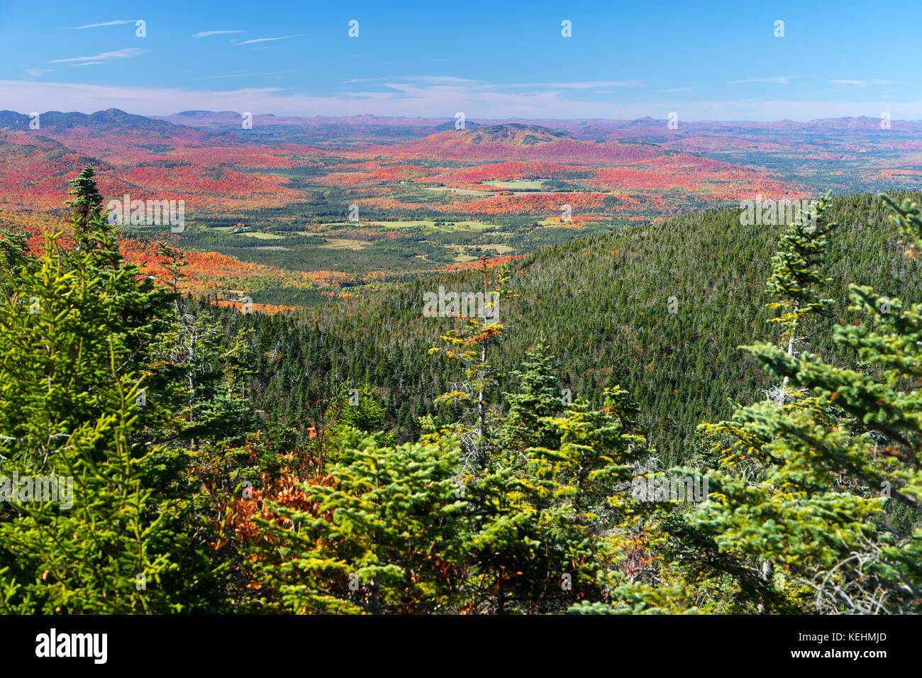 Blick von der Spitze des Mt Porter im Herbst, Adirondacks, New York State, USA. Stockbild