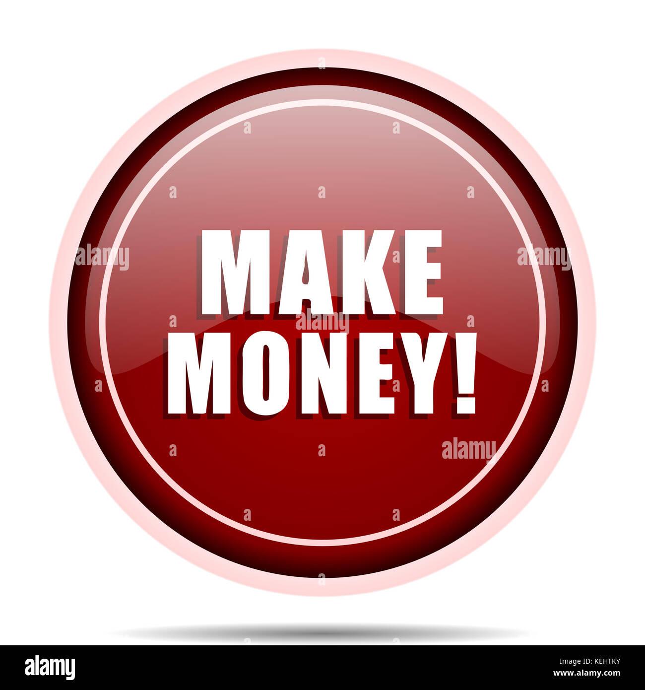 earn money button icon concept stockfotos earn money button icon concept bilder alamy. Black Bedroom Furniture Sets. Home Design Ideas