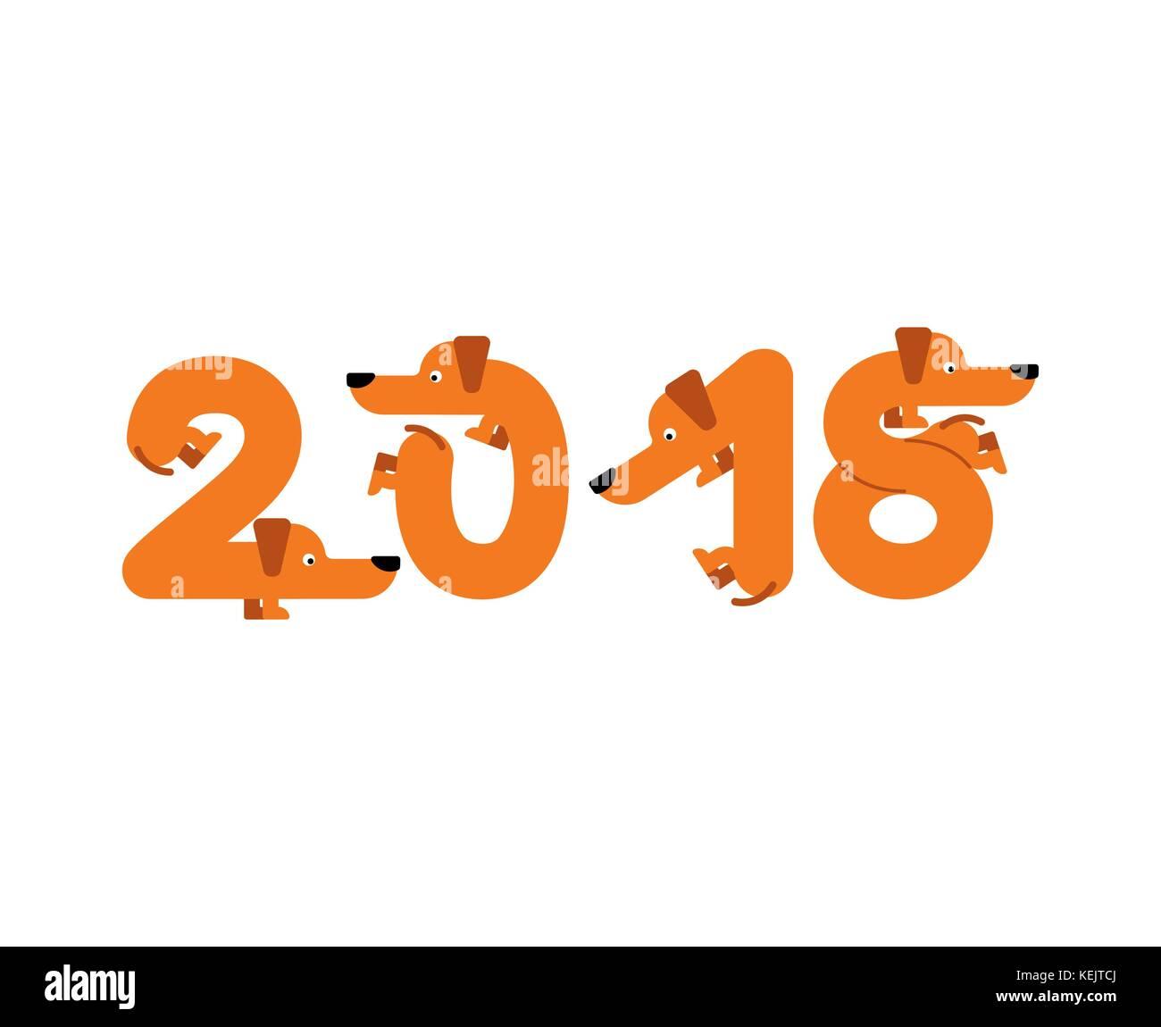Briefe Für Neues Jahr : Jahr der hund schriftzug ist pet briefe von zu