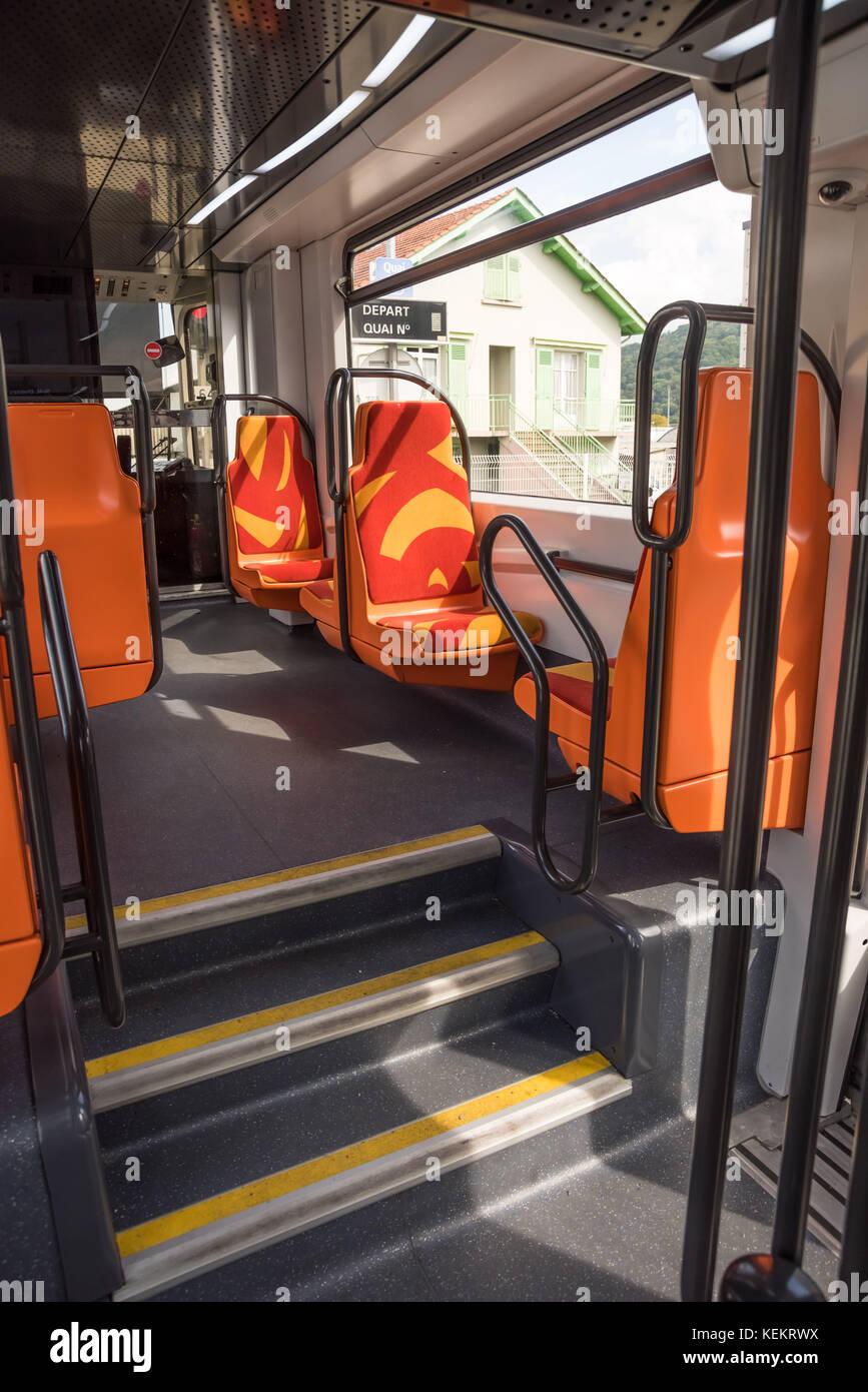 Grenoble, Straßenbahn, Tfs 2, innen Stockbild
