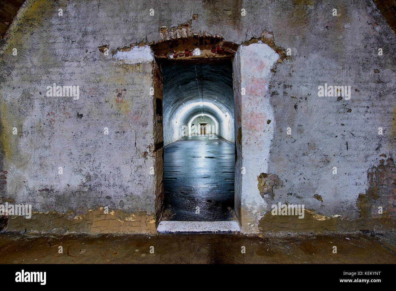 Weltkrieg 2 deutsche Besetzung von Guernsey, Channel Islands. Überrest der unterirdischen Krankenhaus Gänge, Stockbild