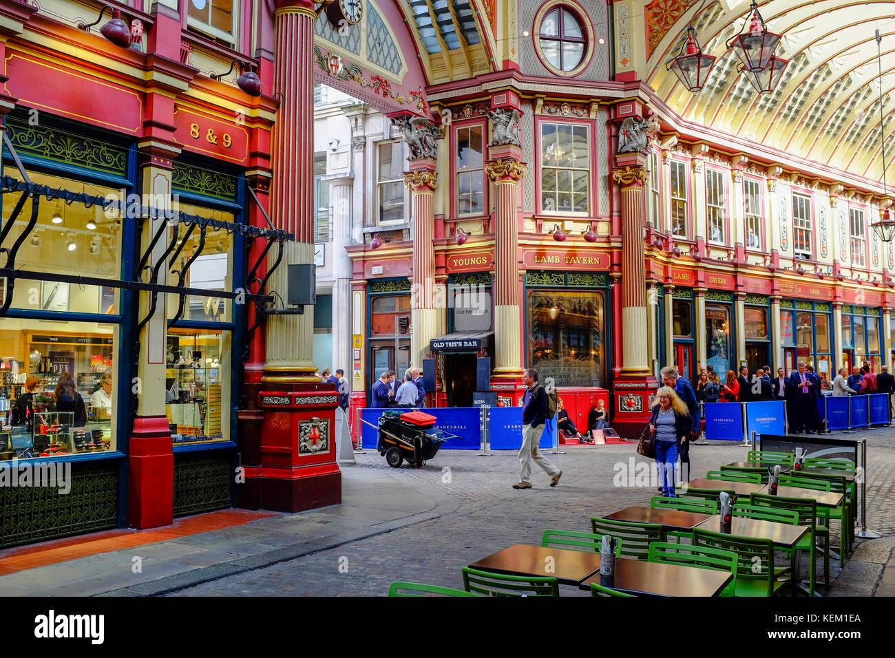 Leadenhall Market, City of London, London, England, Vereinigtes Königreich, Europa Stockbild