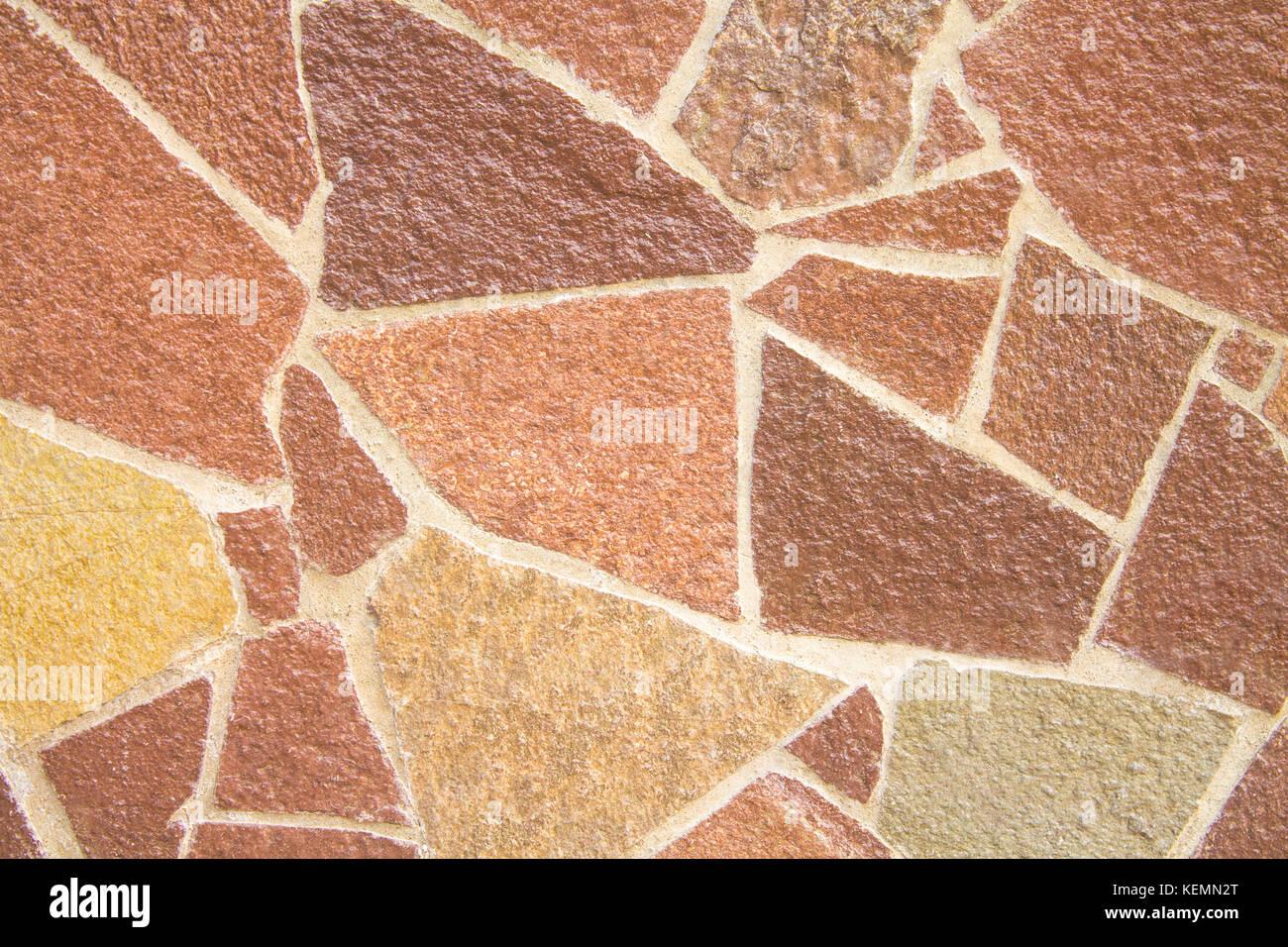 Ein Muster Von Braun Dekorative Fliesen In Verschiedenen Farben Fur