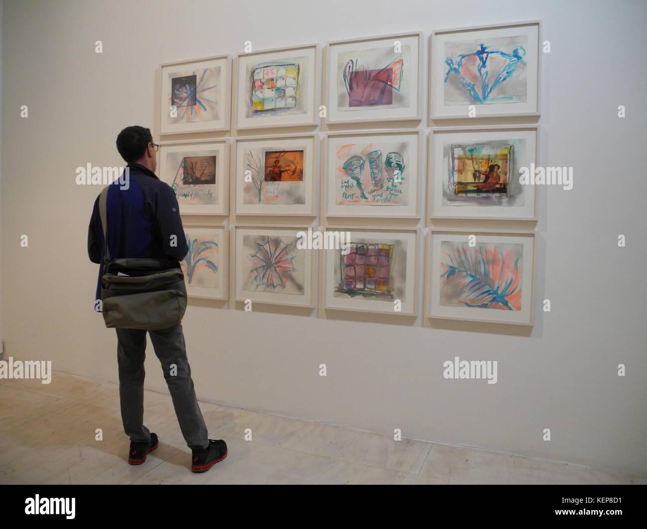 """New York, USA. 22 Okt, 2017. Kunstwerk habe nus Vektoren Studien"""" der Künstlerin Carolee Schneemann in Stockbild"""