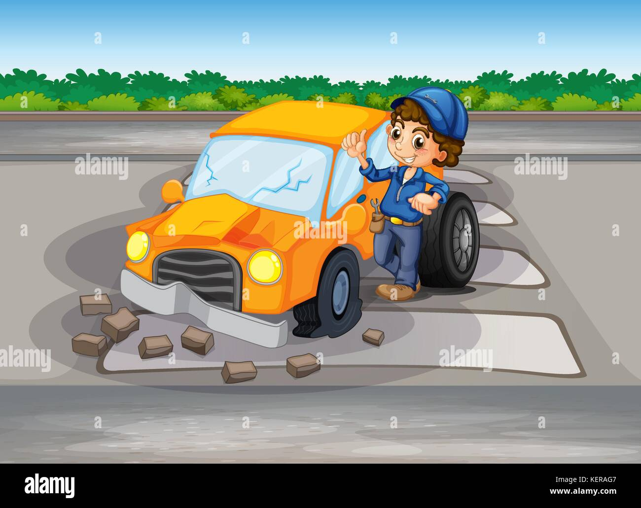 Accident Car Bushes Stockfotos & Accident Car Bushes Bilder - Alamy