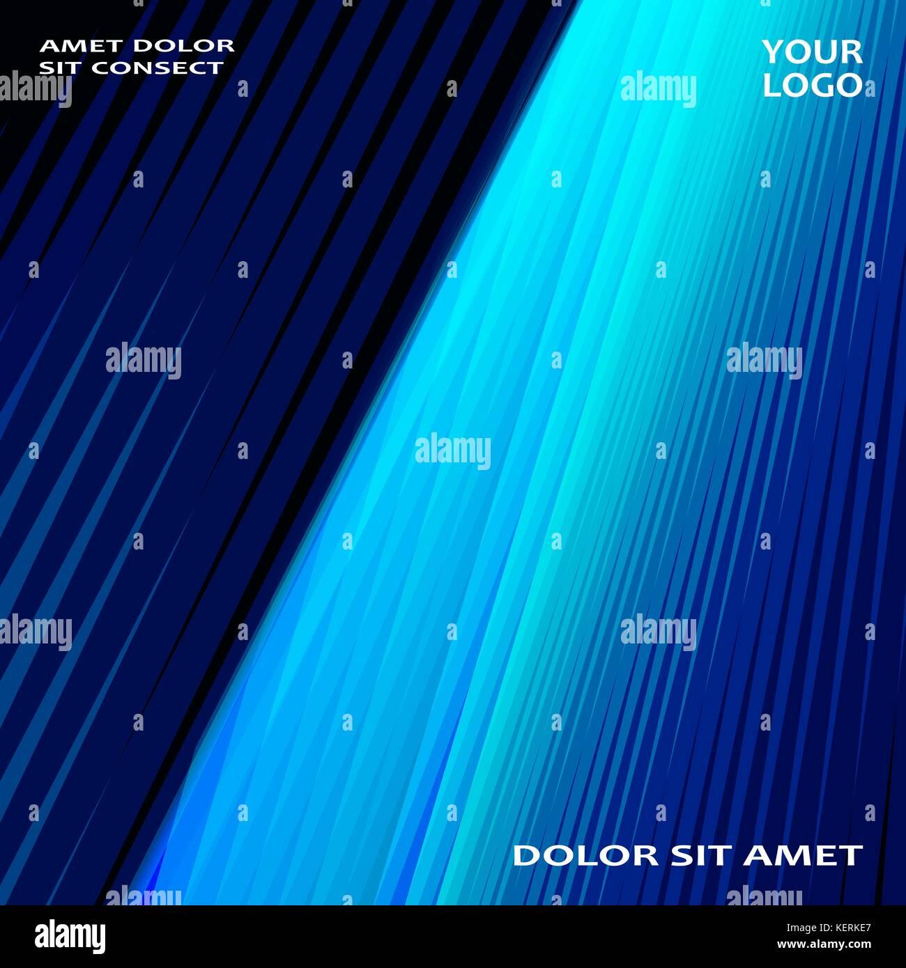 Moderne Technologie gestreifte Abstract umfasst Design blau. neon ...
