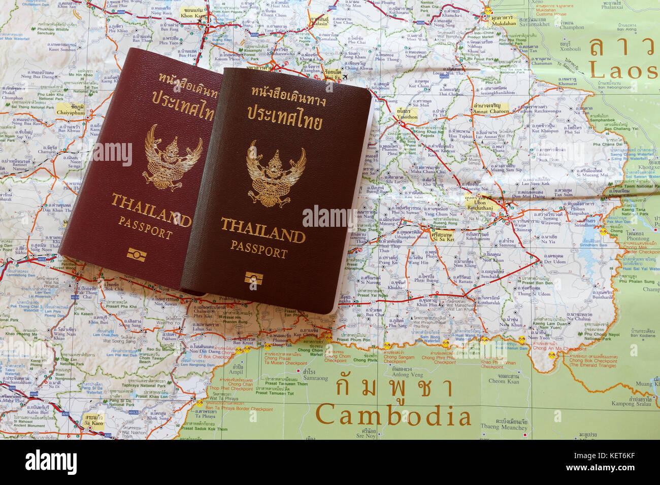 Thailand Karte Welt.Thailand Reisepass Auf Der Karte Um Die Welt Reisen Und Reisen In