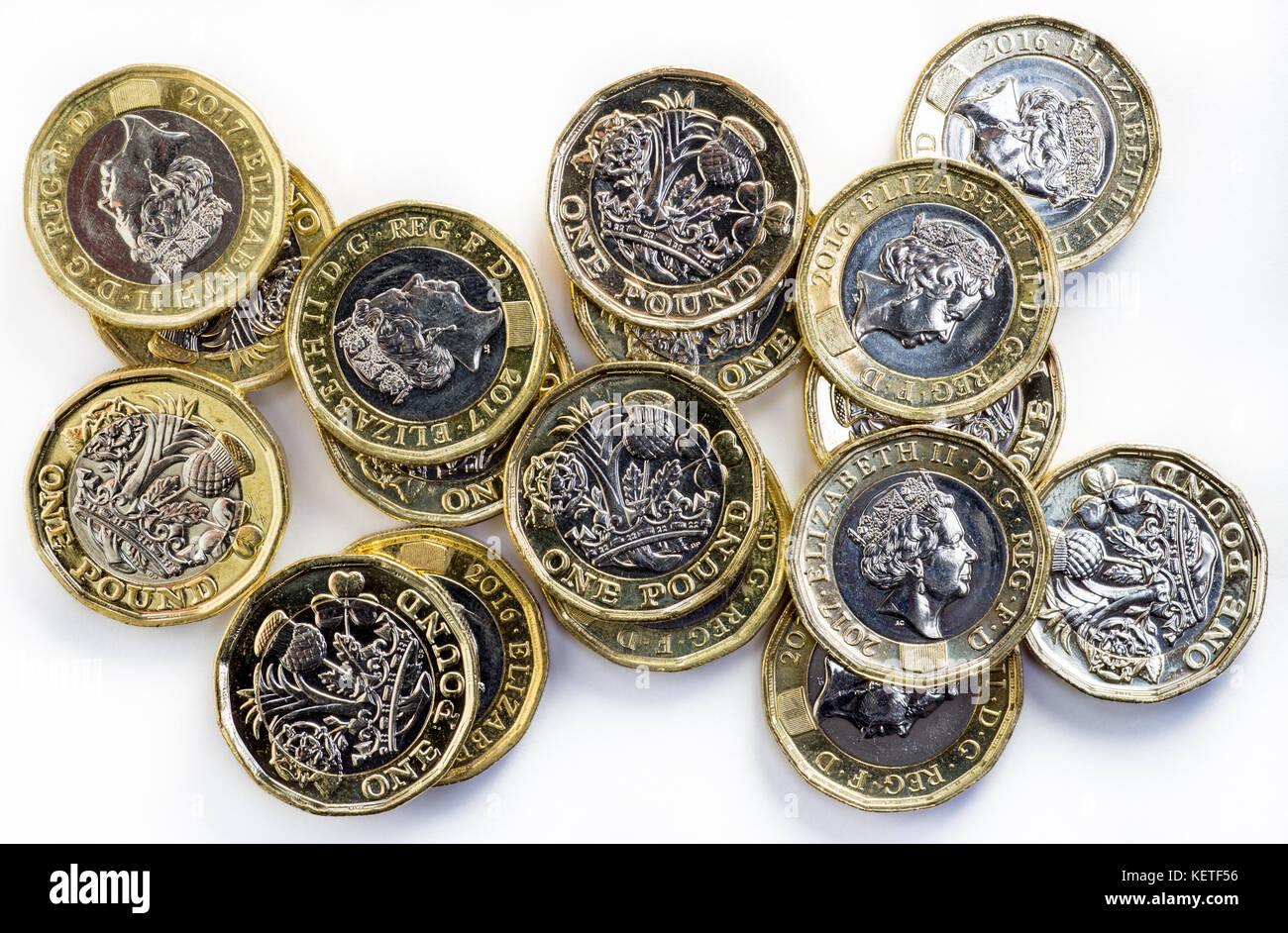 2017 Neue Britische Pfund Münzen Stockfoto Bild 164037250 Alamy