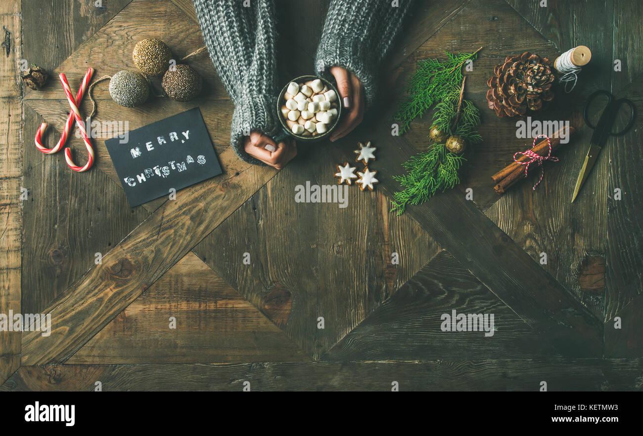 Weihnachten oder Neujahr Hintergrund Kopie Raum Stockfoto