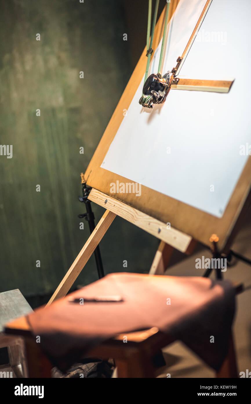 Die kreative Ingenieur Zeichenbrett Stockbild