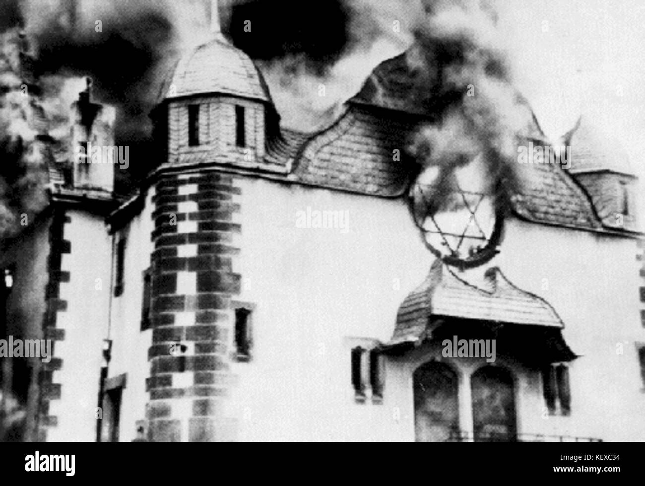 Brennende Synagoge Pogromnacht