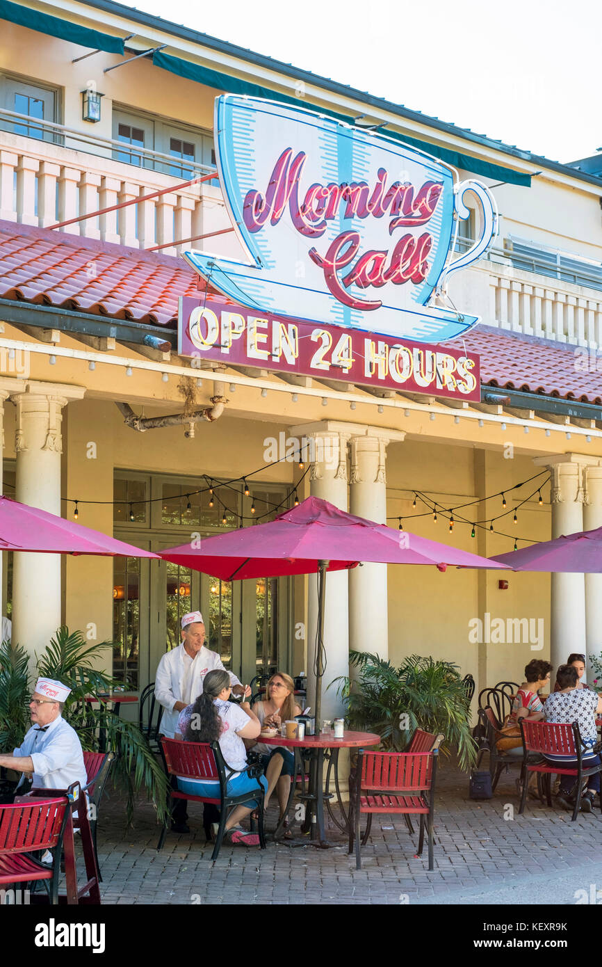 Usa Louisiana New Orleans City Park Morgen Anrufen Cafe Coffee