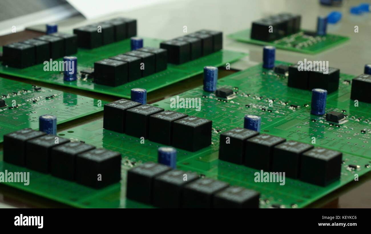 Macro Closeup Computer Pcb Motherboard Stockfotos & Macro Closeup ...
