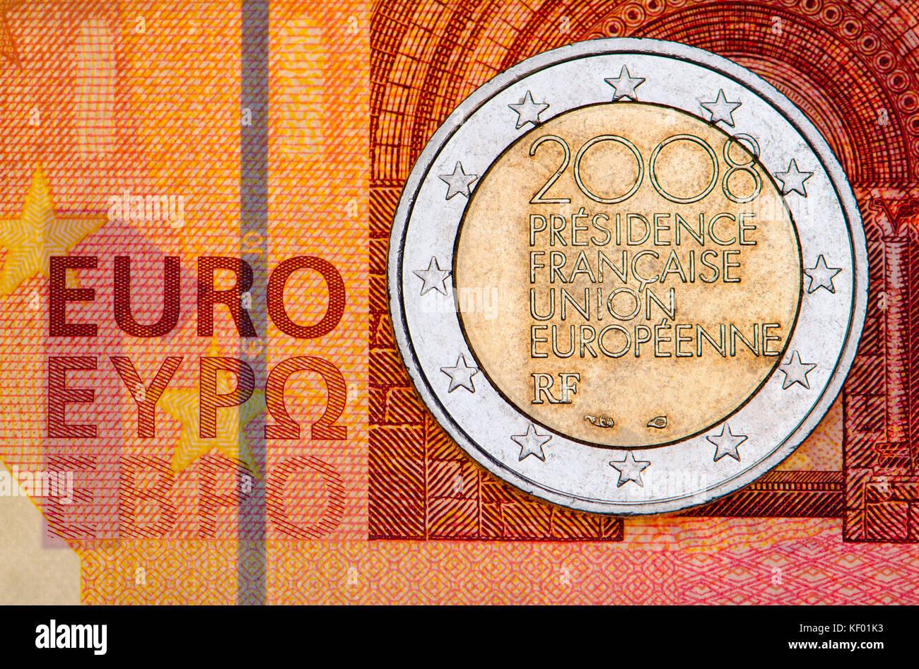 Französische Euro Münze Stockfotos Französische Euro Münze Bilder