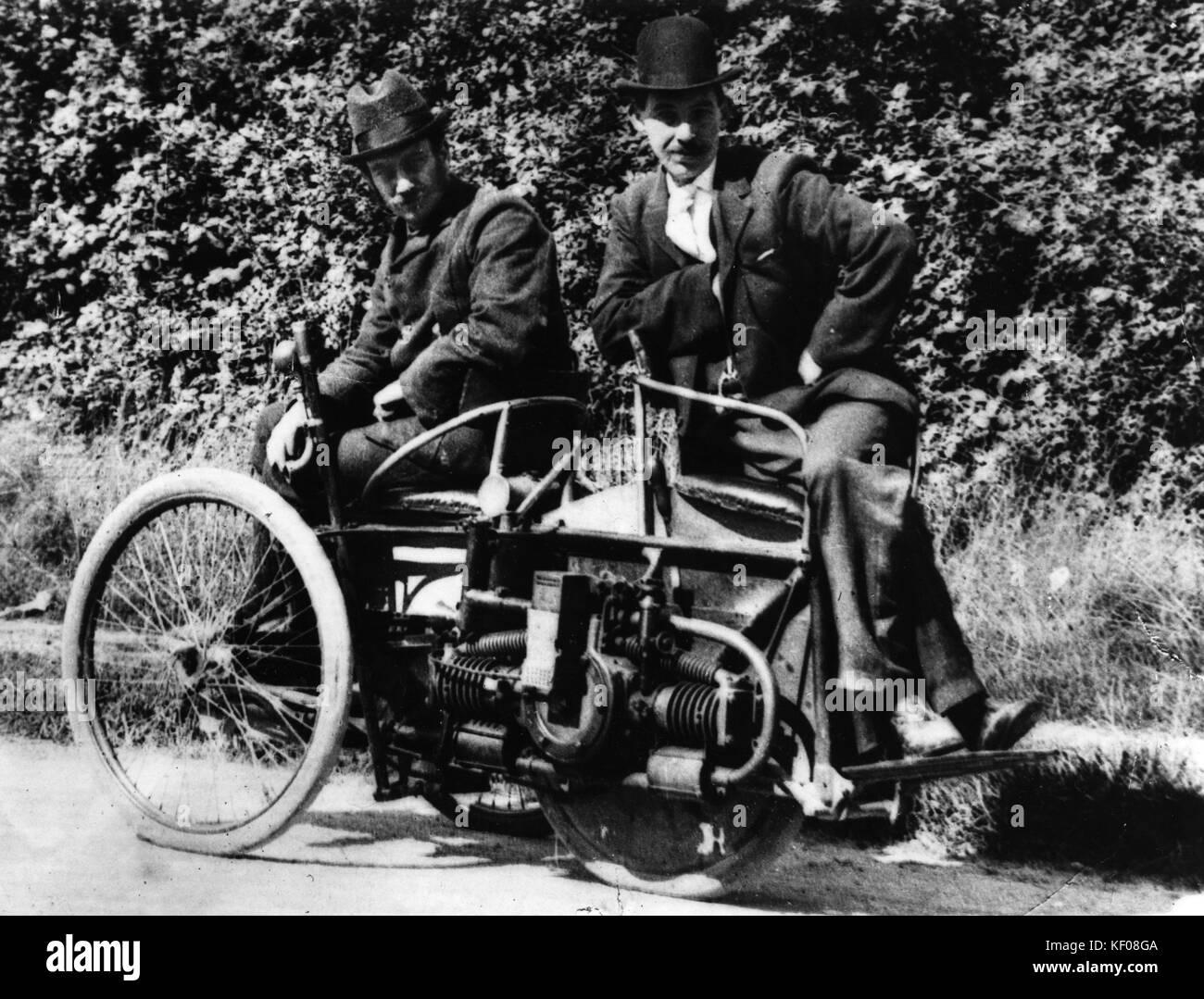 Herbert Austin, Links, wolseley tri-car 1897 Stockbild