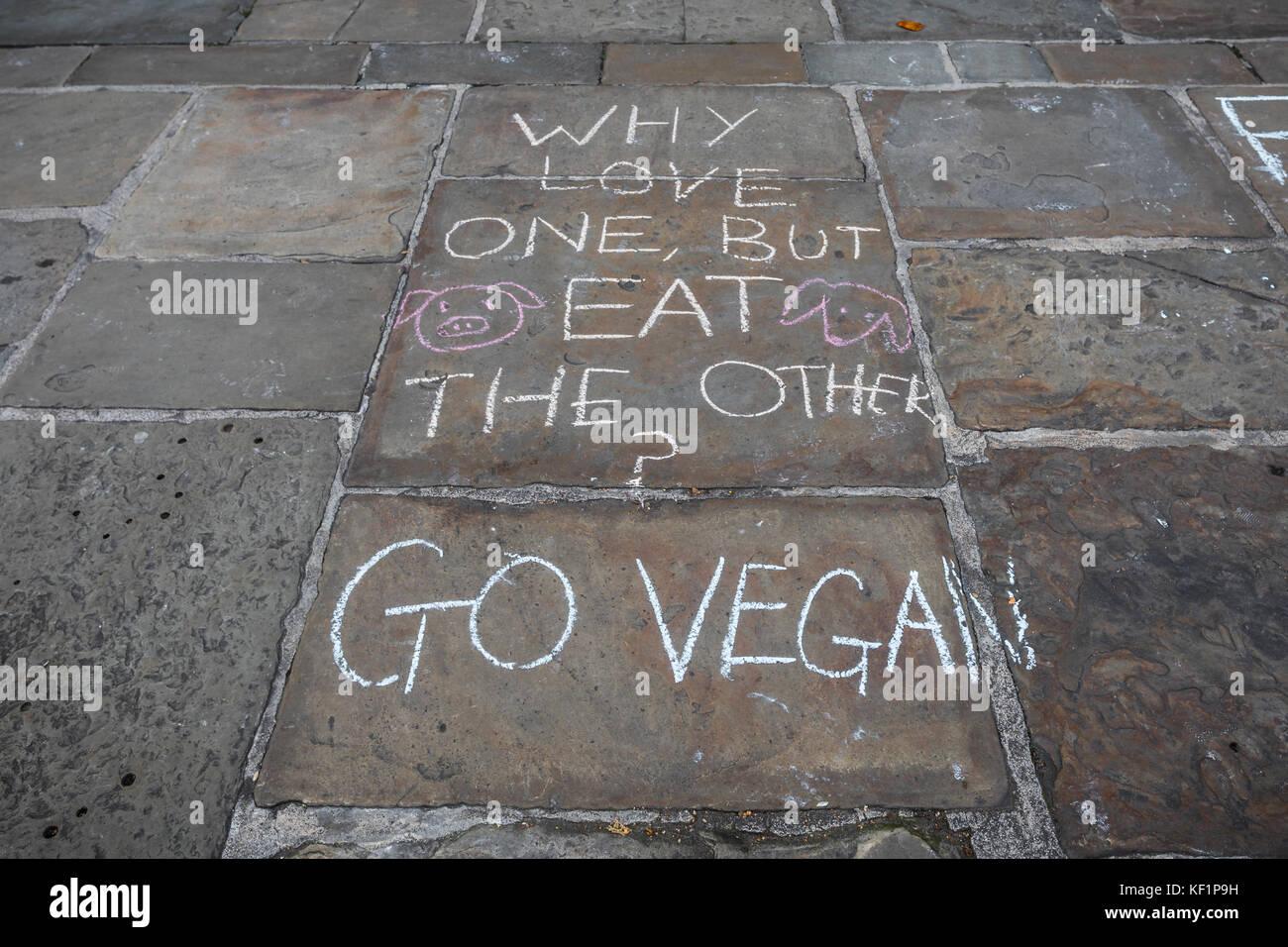 Klicken Sie vegan Graffiti Stockbild
