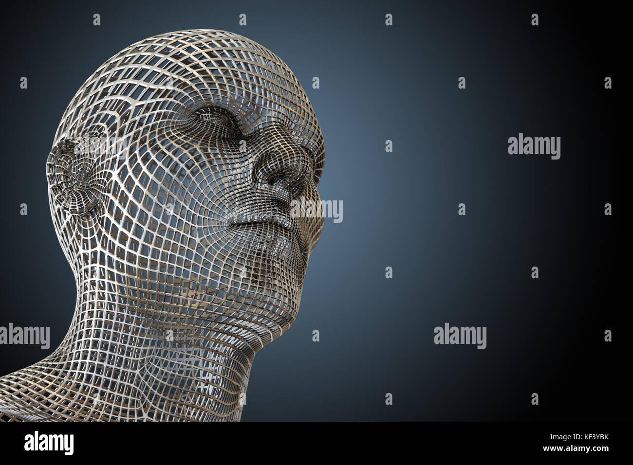 Wire Frame Face Stockfotos & Wire Frame Face Bilder - Seite 2 - Alamy